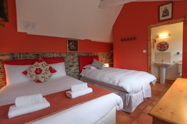 Family Room with Bathroom - Orange Room